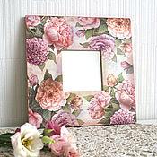 Для дома и интерьера ручной работы. Ярмарка Мастеров - ручная работа Зеркало с пионами. Handmade.