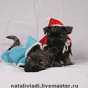"""Для домашних животных, ручной работы. Ярмарка Мастеров - ручная работа Накидка с капюшоном  """"Дед Мороз и Снегурочка"""". Handmade."""
