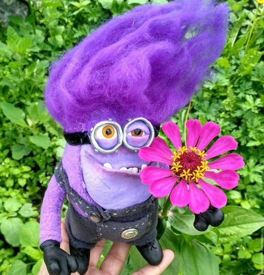 Сказочные персонажи ручной работы. Ярмарка Мастеров - ручная работа. Купить фиолетовый миньон. Handmade. Фиолетовый, кукла в подарок, флис