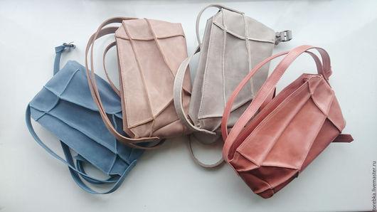 Женские сумки ручной работы. Ярмарка Мастеров - ручная работа. Купить Кожаная сумочка через плечо. Handmade. Комбинированный, на ремешке