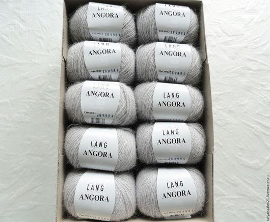 Вязание ручной работы. Ярмарка Мастеров - ручная работа. Купить Пряжа Lang Yarns Angora 0023 silber. Handmade.