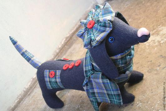 """Куклы и игрушки ручной работы. Ярмарка Мастеров - ручная работа. Купить Собака-такса """" Дуглас"""". Handmade. Тёмно-синий"""