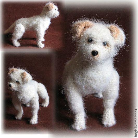 Игрушки животные, ручной работы. Ярмарка Мастеров - ручная работа. Купить вязаная игрушка Любопытный щенок. Handmade. Вязаная игрушка