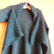 Одежда handmade. Livemaster - original item Cardigan with brooch knitted,warm. Handmade.