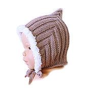 Работы для детей, ручной работы. Ярмарка Мастеров - ручная работа шапка детская шапочка для мальчика шапка вязаная, чепчик бежевый. Handmade.