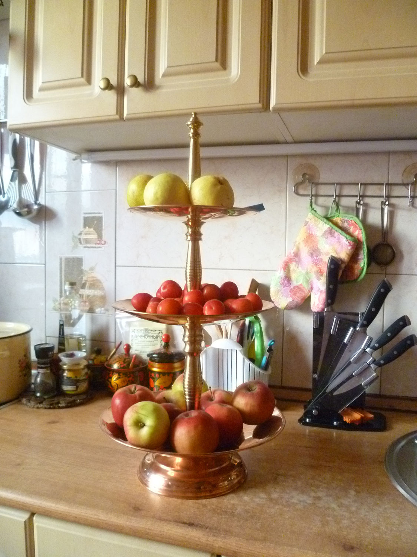 Фруктовница, Горка,  для фруктов из меди и латуни, Утварь, Москва,  Фото №1