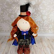 Тыквоголовка ручной работы. Ярмарка Мастеров - ручная работа Кукла Шляпница. Handmade.