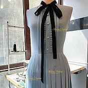 Одежда ручной работы. Ярмарка Мастеров - ручная работа Платье из костюмной ткани. Handmade.