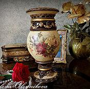 Для дома и интерьера ручной работы. Ярмарка Мастеров - ручная работа Ваза винтажные розы. Handmade.