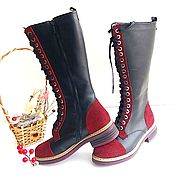 Обувь ручной работы handmade. Livemaster - original item Womens leather boots. Handmade.