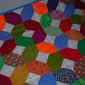 Для дома и интерьера ручной работы. Ярмарка Мастеров - ручная работа Лоскутное одеяло ИКС и НОЛЬ. Handmade.
