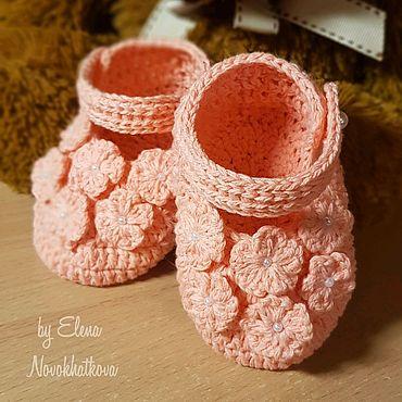 Товары для малышей ручной работы. Ярмарка Мастеров - ручная работа Пинетки-туфельки. Handmade.