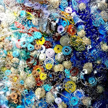Картины и панно ручной работы. Ярмарка Мастеров - ручная работа Картина в морском стиле с эффектом реальной воды Шепот моря. Handmade.