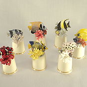 Подарки к праздникам handmade. Livemaster - original item Author`s collection of porcelain thimbles