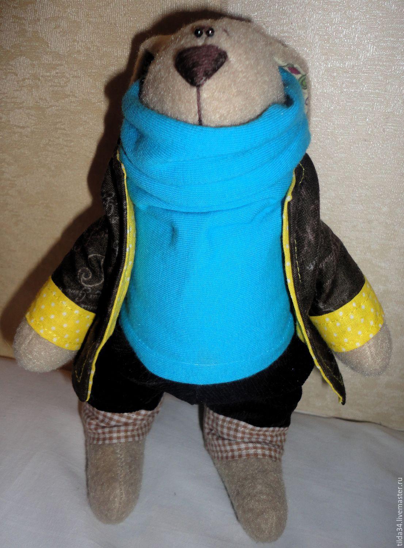 Заяц в свитерке и пиджачке, Игрушки животные, Волгоград, Фото №1