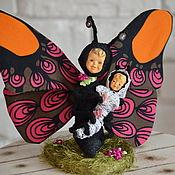 Куклы и игрушки ручной работы. Ярмарка Мастеров - ручная работа Бабочка с куколкой. Handmade.
