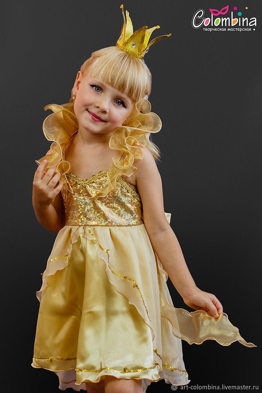 Маскарадный детский костюм для девочки  Золотая рыбка