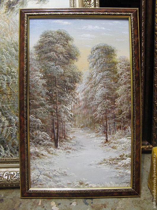 Пейзаж ручной работы. Ярмарка Мастеров - ручная работа. Купить Зима. Handmade. Лес, картина, в подарок, масло