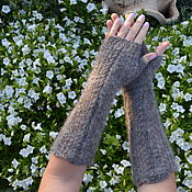 Аксессуары handmade. Livemaster - original item Fingerless gloves womens extra long down. Handmade.