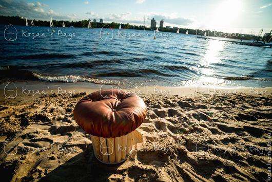 """Мебель ручной работы. Ярмарка Мастеров - ручная работа. Купить Пуф """"Cupcake Naturelle (Капкейк Натюрель)"""" от Kozaa's Bags. Handmade."""