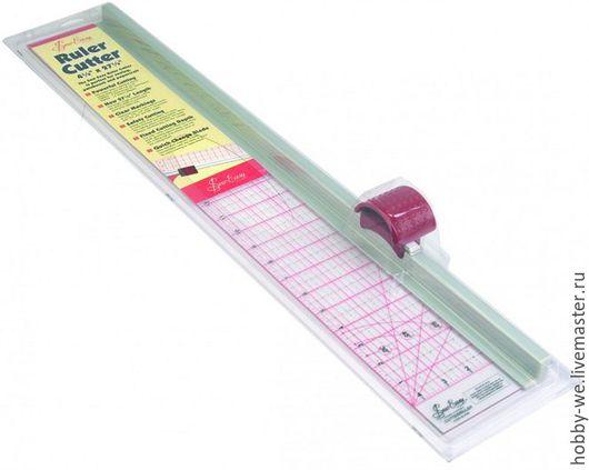 Шитье ручной работы. Ярмарка Мастеров - ручная работа. Купить Линейка с ножом для раскроя, Австралия. Handmade. Линейка для пэчворка