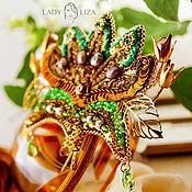 Украшения handmade. Livemaster - original item Embroidered beaded brooch Green Lotus. Handmade.