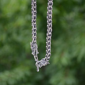 Украшения handmade. Livemaster - original item The chain of 925 silver dragon scales with the heads of the Dragons. Handmade.