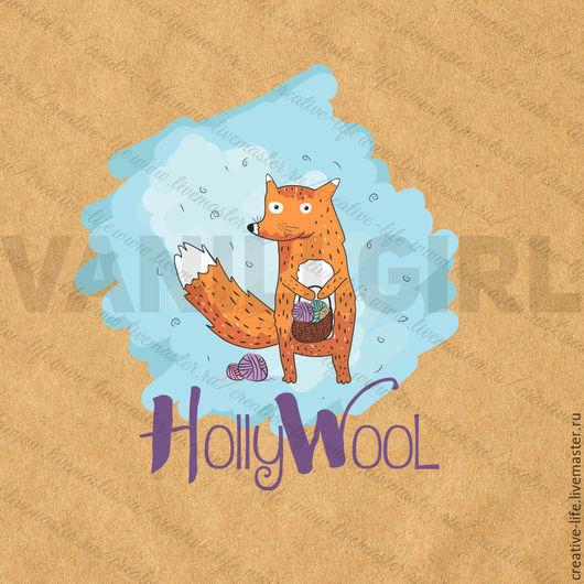 """Баннеры для Магазинов мастеров ручной работы. Ярмарка Мастеров - ручная работа. Купить Логотип """"HollyWool"""". Handmade. Рыжий, логотип, пряжа"""