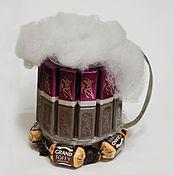 Цветы и флористика ручной работы. Ярмарка Мастеров - ручная работа Пивная кружка из конфет. Handmade.