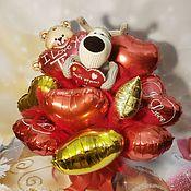 """Подарки на 14 февраля ручной работы. Ярмарка Мастеров - ручная работа Букет из шаров с игрушкой """"Ты великолепна"""". Handmade."""
