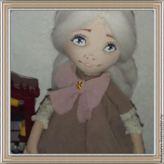 Коллекционные куклы ручной работы. Ярмарка Мастеров - ручная работа. Купить Милана. Handmade. Бежевый, кукла ручной работы, габардин