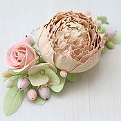 Украшения ручной работы. Ярмарка Мастеров - ручная работа Свадебные украшения Гребень с цветами из фоамирана. Handmade.