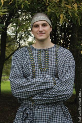 Этническая одежда ручной работы. Ярмарка Мастеров - ручная работа. Купить Рубаха для бани. Handmade. Синий, баня, народный костюм
