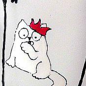 Посуда ручной работы. Ярмарка Мастеров - ручная работа Кружка с ручной росписью Флеш Рояль. Handmade.