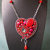 Украшения handmade. Livemaster - original item A Wonderful Heart pendant (option). Handmade.