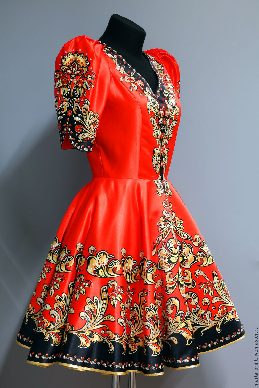 Русская пара одежде