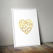 Картины и панно ручной работы. Ярмарка Мастеров - ручная работа My Heart Belongs To You. Постер, авторская печать. Handmade.