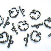 Материалы для творчества handmade. Livemaster - original item Castle-togl Heart antique bronze, accessories for jewelry. Handmade.