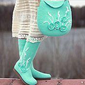 """Обувь ручной работы. Ярмарка Мастеров - ручная работа Комплект """"Зимний сон"""". Handmade."""