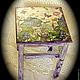 """Мебель ручной работы. Ярмарка Мастеров - ручная работа. Купить Табурет деревянный """"Все фиолетово"""" :). Handmade. Фиолетовый"""
