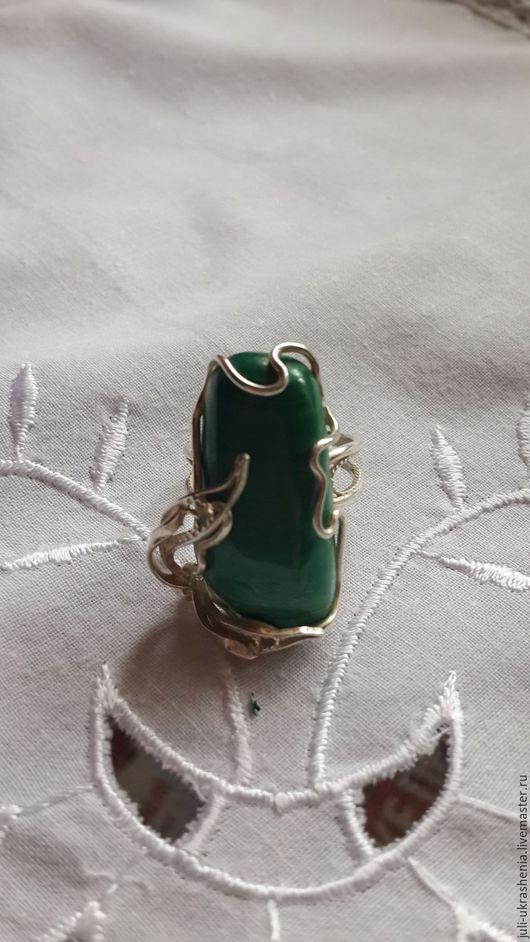 Кольца ручной работы. Ярмарка Мастеров - ручная работа. Купить Малахитовая зелень. Handmade. Зеленый, мельхиор, чудесный подарок, мельхиор