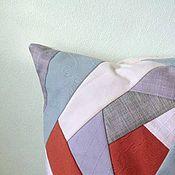 Для дома и интерьера ручной работы. Ярмарка Мастеров - ручная работа подушка диванная лоскутная наволочка крэйзи пэчворк. Handmade.