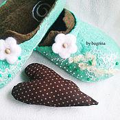 Обувь ручной работы. Ярмарка Мастеров - ручная работа Валяные тапочки Лесная фея. Handmade.
