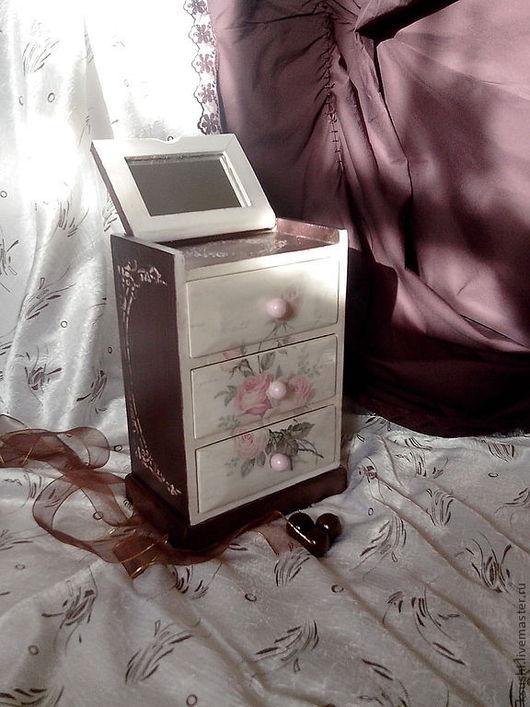 Мини-комоды ручной работы. Ярмарка Мастеров - ручная работа. Купить Мини-комодик Нежность роз.... Handmade. Мини-комод