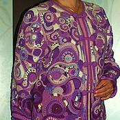 """Одежда ручной работы. Ярмарка Мастеров - ручная работа Пальто """"Сиреневый джаз"""". Handmade."""