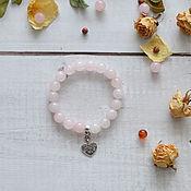 Bead bracelet handmade. Livemaster - original item A bracelet made of beads: Love talisman