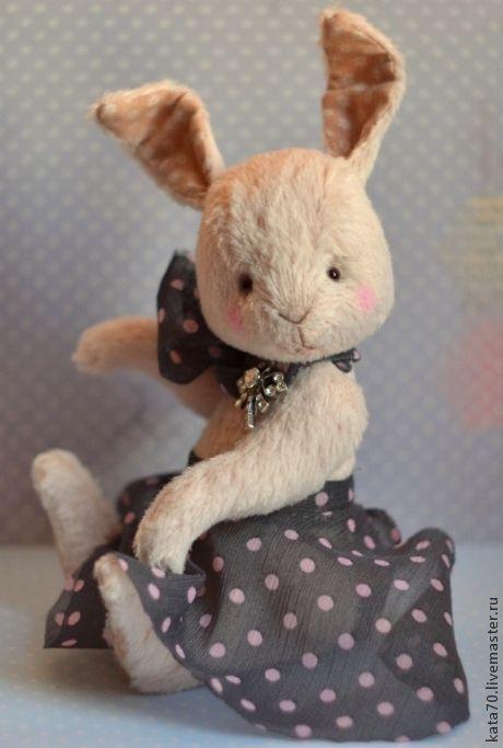 Мишки Тедди ручной работы. Ярмарка Мастеров - ручная работа. Купить Полли. Handmade. Кремовый, заяц тедди, танцы