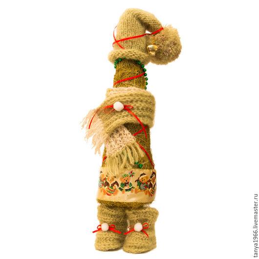 Новый год 2017 ручной работы. Ярмарка Мастеров - ручная работа. Купить Елка новогодняя в шапочке 2. Handmade. Зеленый