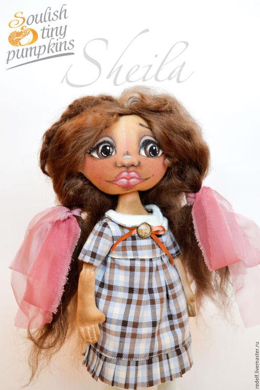 Коллекционные куклы ручной работы. Ярмарка Мастеров - ручная работа. Купить Интерьерная кукла тыквоголовка Шейла. Handmade. Коричневый, шерсть