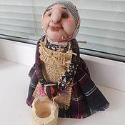 Куклы и игрушки ручной работы. Ярмарка Мастеров - ручная работа Кукла Бабулька с ведром. Handmade.